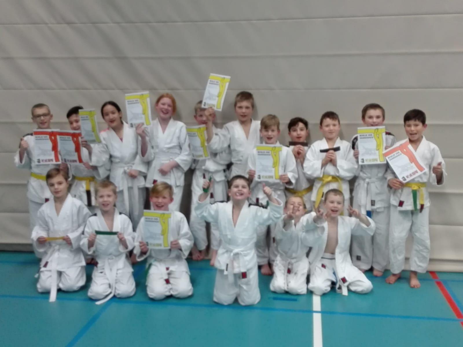 Succesvol judo-examen op 7 december 2018