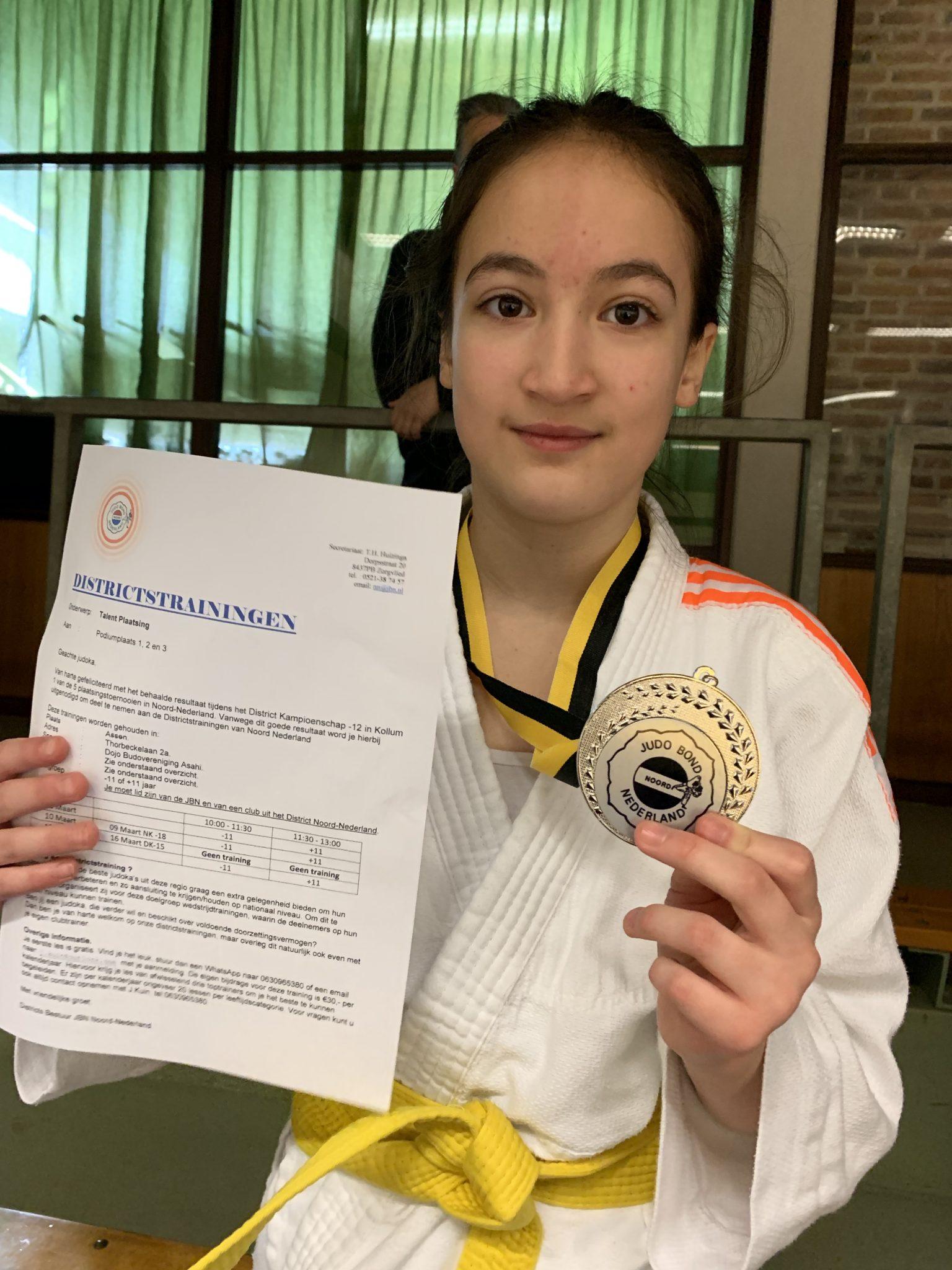Aímee Kuilman wint zilver op District Kampioenschap Noord Nederland